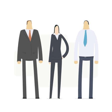 corporate social: team di giovani uomini d'affari
