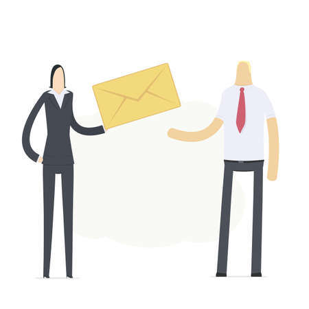Manager sends an important message Stock Vector - 16550141