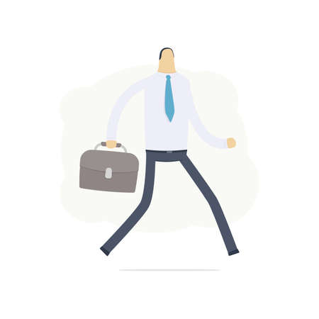 Manager run on the job Stock Vector - 16550128