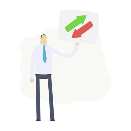 Manager shows the symbol exchange Stock Vector - 16550126