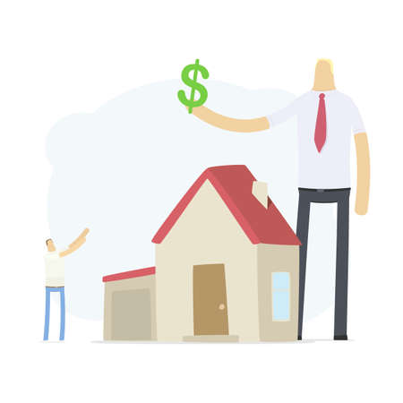 agent increases the rate of credit for real estate Stock Vector - 16550150