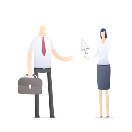 situations: business people in different situations Illustration