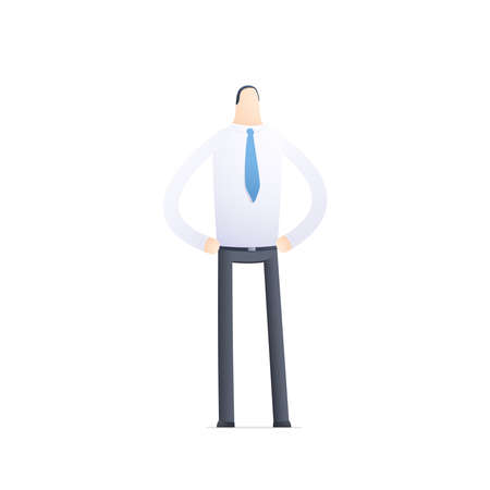inspect: business people in different situations Illustration