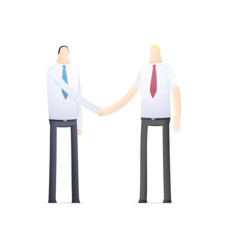 handshake of two businessmen Stock Vector - 17580282