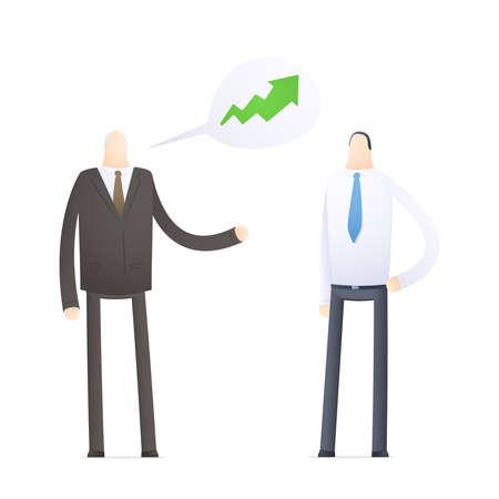 Boss praises an employee for good performance Stock Vector - 17580295
