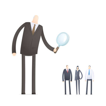 Boss chooses experienced staff Stock Vector - 17580314