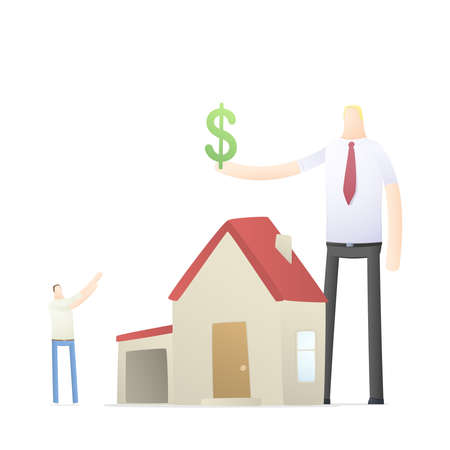 agent increases the rate of credit for real estate Stock Vector - 17580310