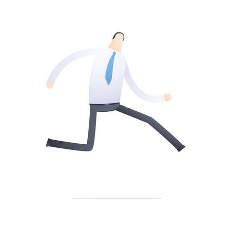 Manager run on the job Stock Vector - 17580217