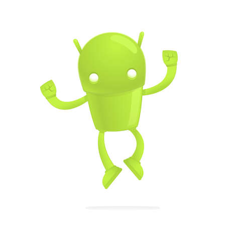 funny cartoon android Stock Vector - 17655284