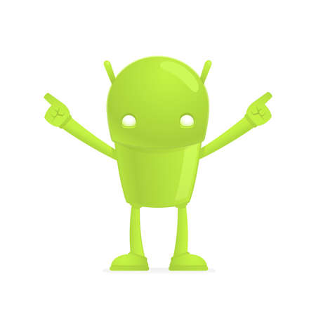 funny cartoon android Vector