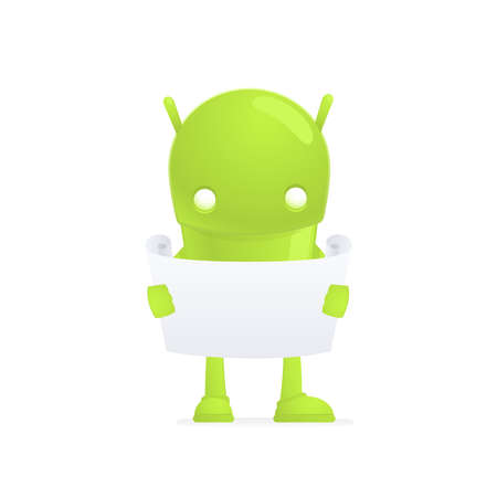 funny cartoon android Stock Vector - 17655279