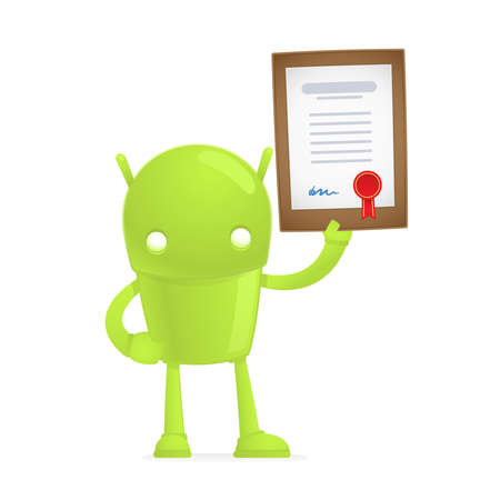 android tablet: funny cartoon android