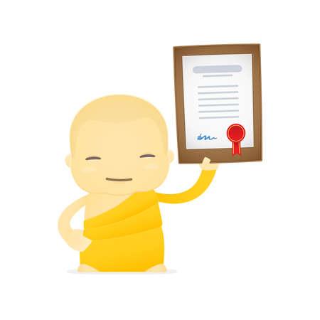 cartoon monk Stock Vector - 17654582