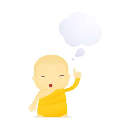 cartoon monk Stock Vector - 17655014