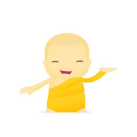 buddhist monk: cartoon monk