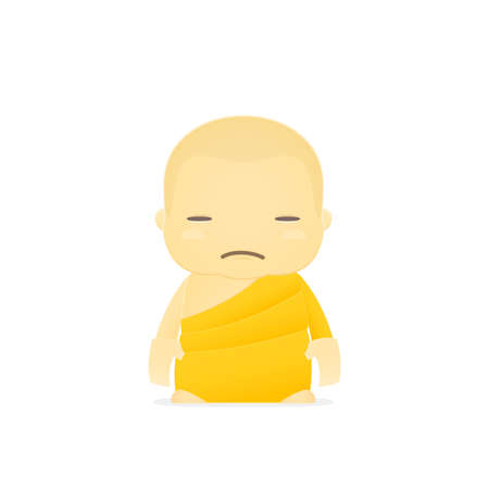 cartoon monk Vector