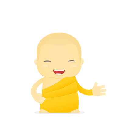 cartoon monk Stock Vector - 17654618