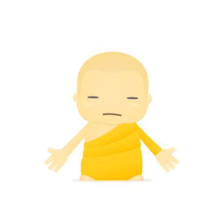 future buddha: cartoon monk