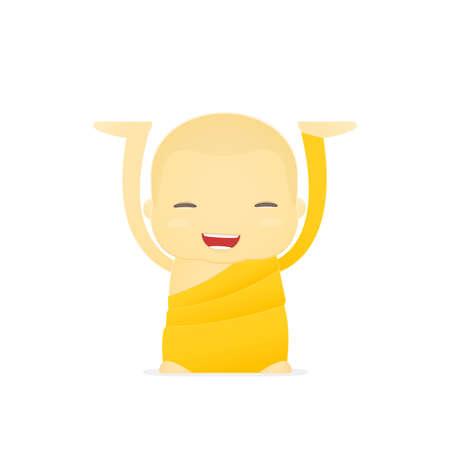 tibet: cartoon monk