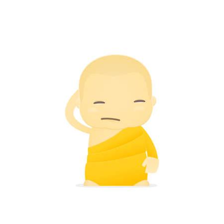 cartoon monk Stock Vector - 17654500
