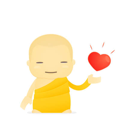 simbolos religiosos: dibujos animados monje