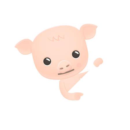 appear: funny cartoon pig