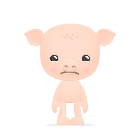 pitiful: funny cartoon pig