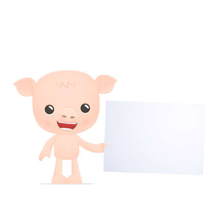funny cartoon pig Stock Vector - 18009341