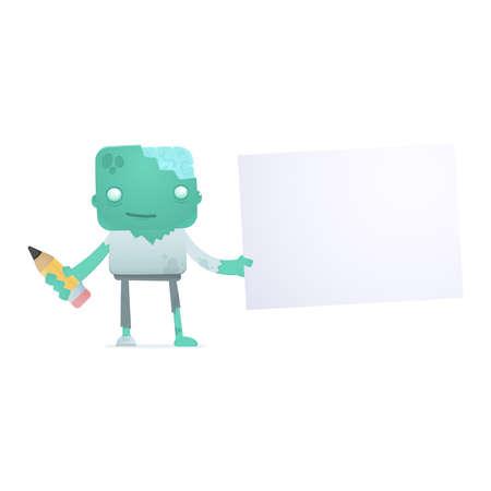 funny cartoon zombie Stock Vector - 18009443