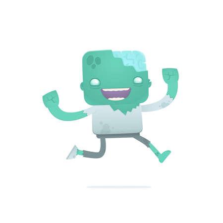 joking: funny cartoon zombie