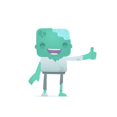 funny cartoon zombie Stock Vector - 18009430