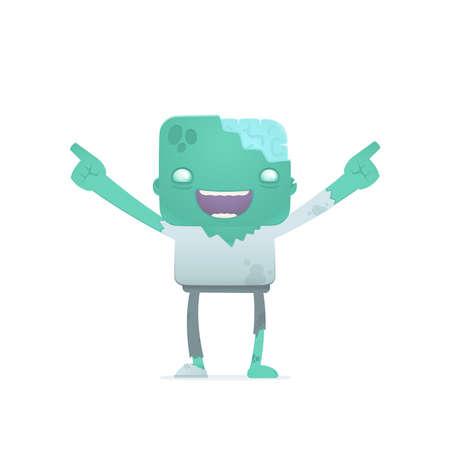 funny cartoon zombie Stock Vector - 18009519