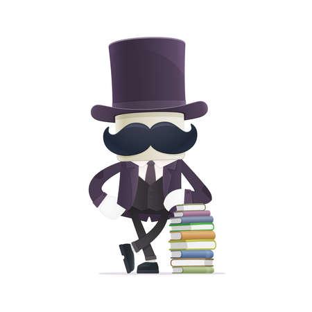 data dictionary: funny cartoon illusionist