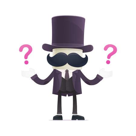 asking: funny cartoon illusionist