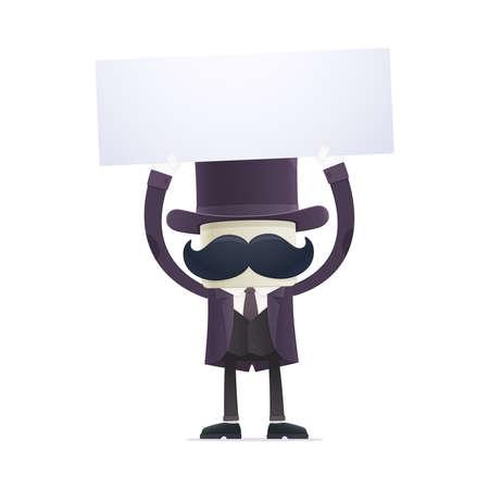 mentalist: funny cartoon illusionist