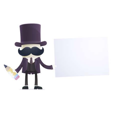 funny cartoon illusionist Stock Vector - 18028056