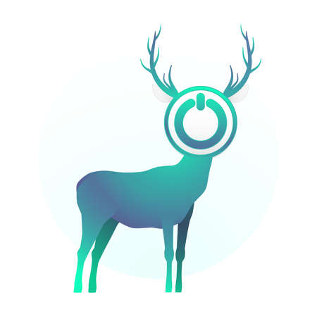 turn off the deer Stock Vector - 18759203