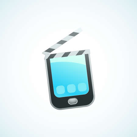 shoot a movie on your phone Stock Vector - 18759165