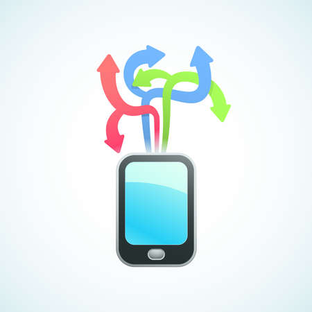 large selection of apps for your phone Stock Vector - 18759171