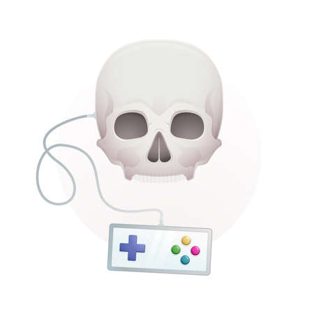 skull with a gamepad Stock Vector - 18759206