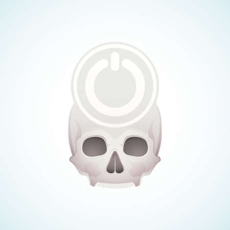 turn off the skull Stock Vector - 18759205