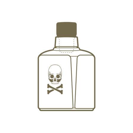 poison bottle: bottiglia di veleno Vettoriali