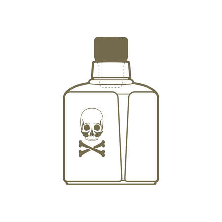 bottle of poison Stock Vector - 18758923