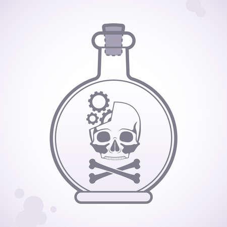 bottle of poison Stock Vector - 18759015