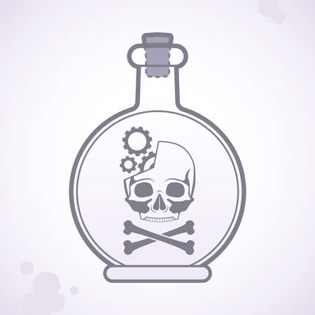 poison bottle: bottle of poison