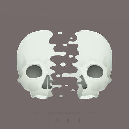 split skull Stock Vector - 18759079