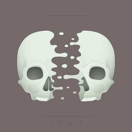 split skull Stock Vector - 18759079