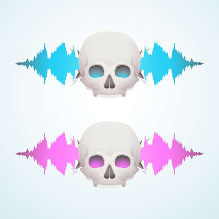 Music breaks the skull Vector