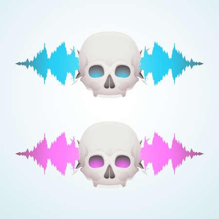 breaks: Music breaks the skull Illustration