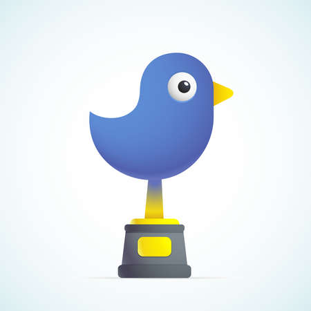 small business concept: blue bird Illustration